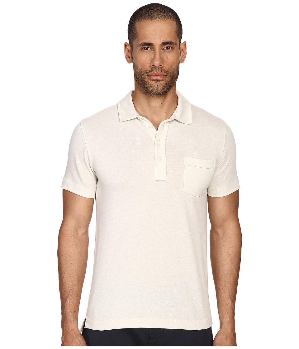 Billy Reid - Pensacola Polo Shirt (Tinted White) Men's Clothing