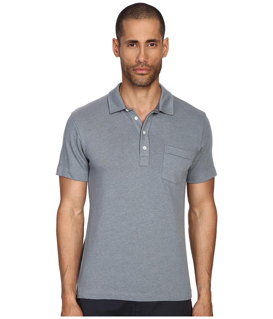 Billy Reid - Pensacola Polo Shirt (Marine) Men's Clothing
