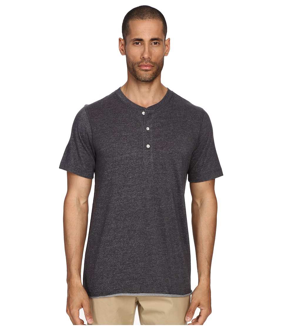 Billy Reid - Short Sleeve Hunter Henley (Grey) Men's T Shirt