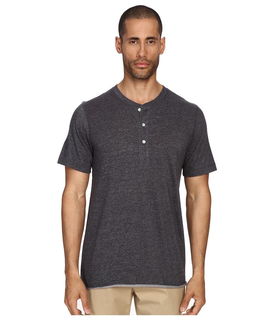 Image of Billy Reid - Short Sleeve Hunter Henley (Grey) Men's T Shirt