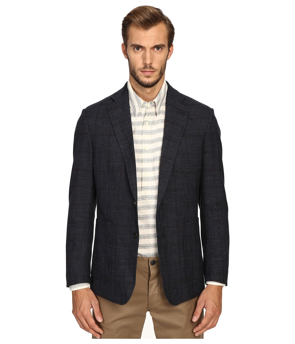 Billy Reid - Rustin Jacket (Navy/Red Plaid) Men's Jacket