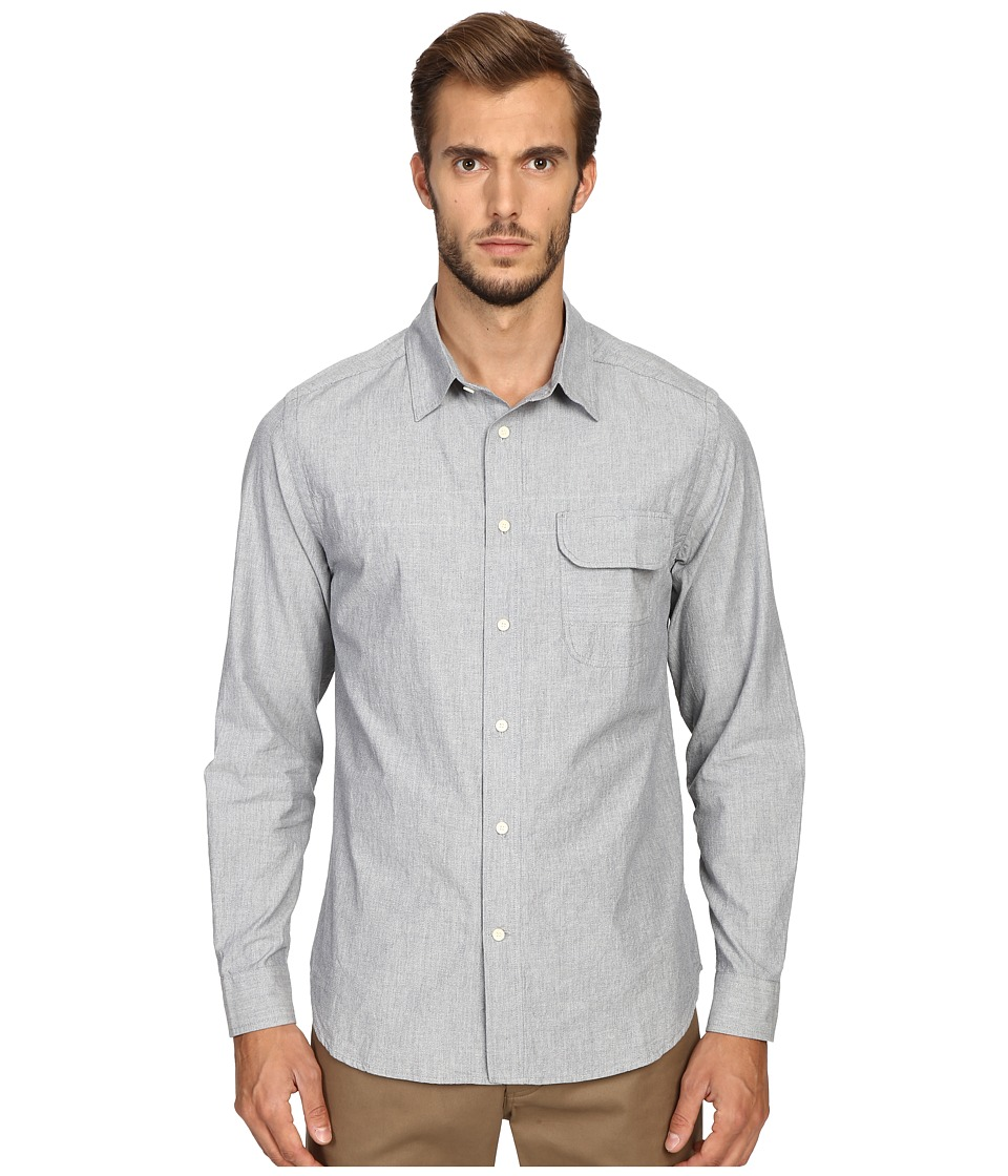 Billy Reid - Runway Miller Button Up Shirt (Light Blue) Men's Long Sleeve Button Up
