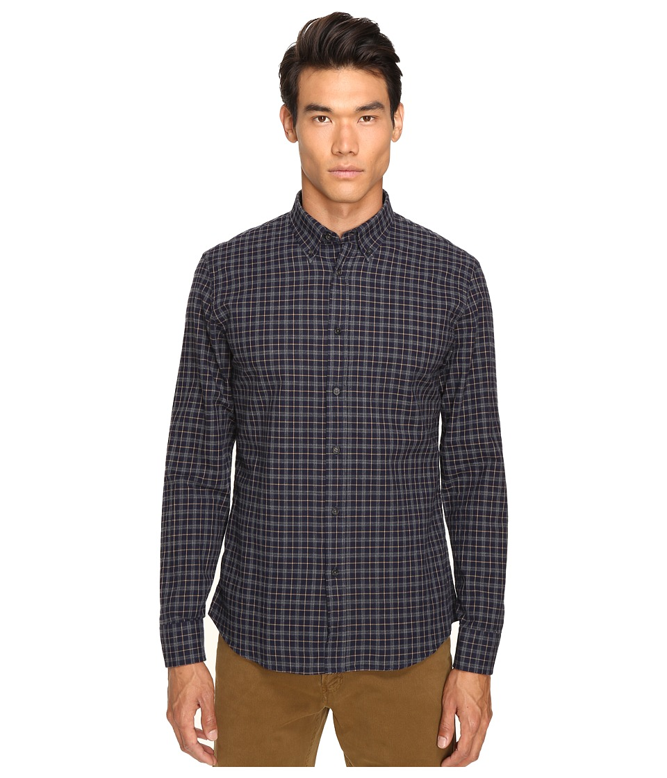 Billy Reid - Murphy Shirt (Navy/Tan) Men's Long Sleeve Button Up