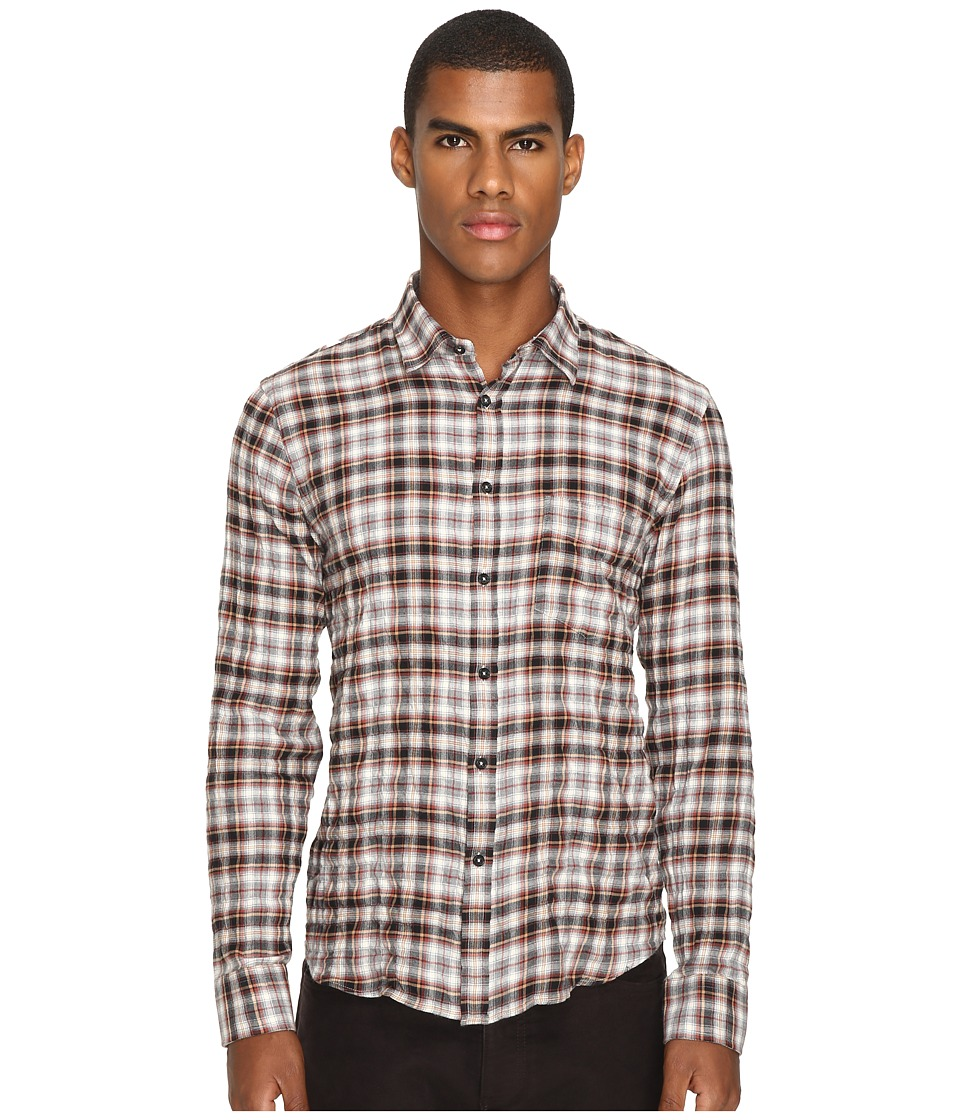 Billy Reid - Kirby Shirt (Rust Check) Men's Long Sleeve Button Up