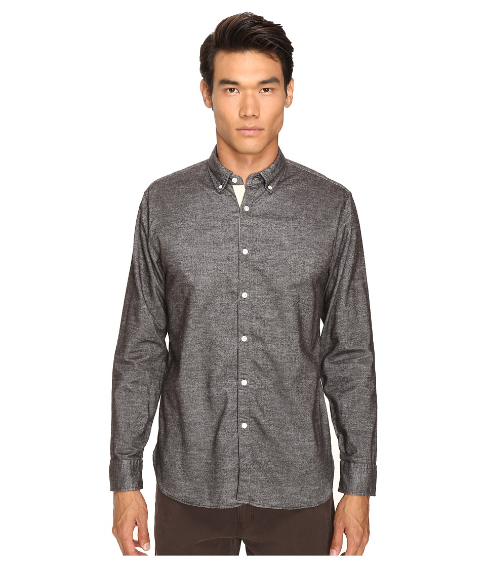Billy Reid - Brushed Twill Shirt (Brown) Men's Long Sleeve Button Up