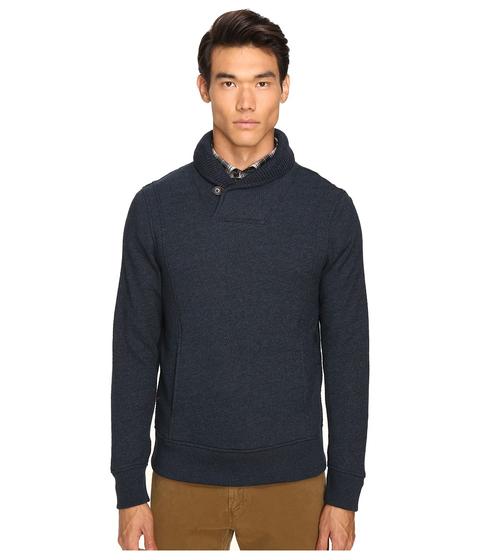 Billy Reid - Trevor Shawl Pullover (Midnight) Men's Sweater