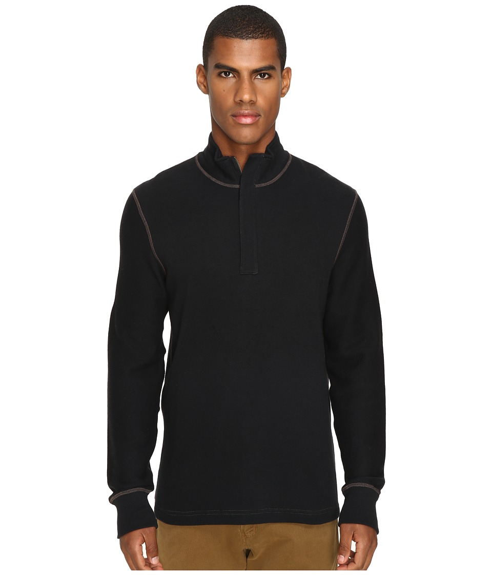 Image of Billy Reid - Walter 1/2 Zip (Black) Men's Clothing