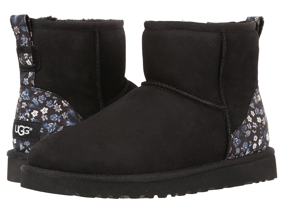 UGG - Classic Mini Liberty (Black) Women's Shoes