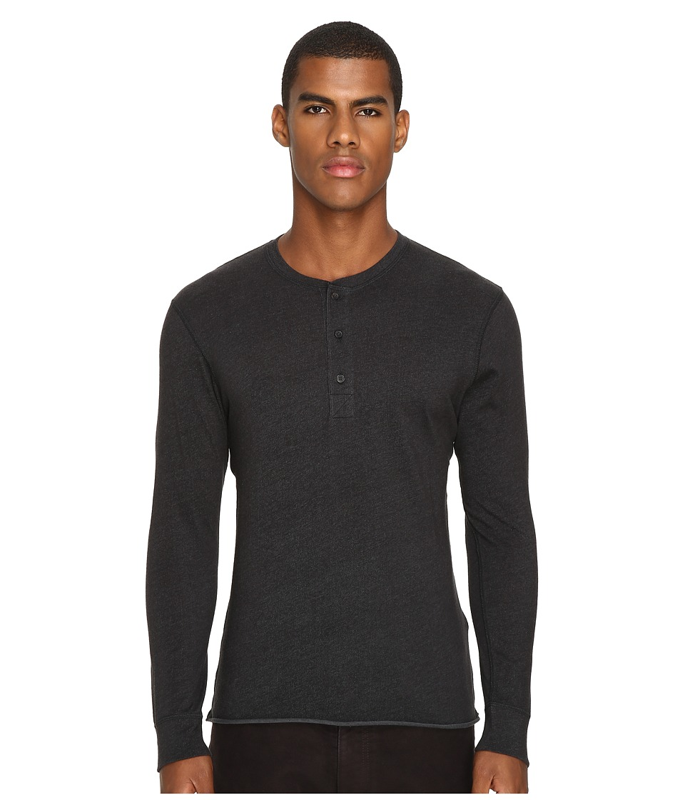 Billy Reid - Harvey Henley (Black) Men's Clothing
