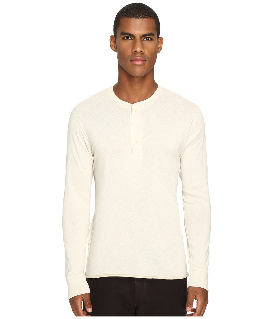Billy Reid - Harvey Henley (Sand/Melange) Men's Clothing