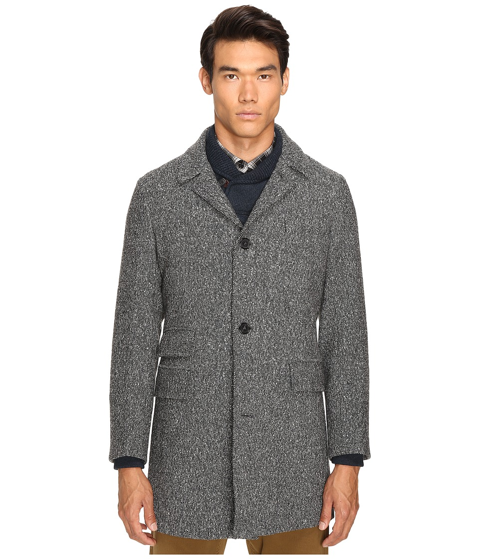 Billy Reid - Astor Lined Coat (Black/Natural) Men's Coat