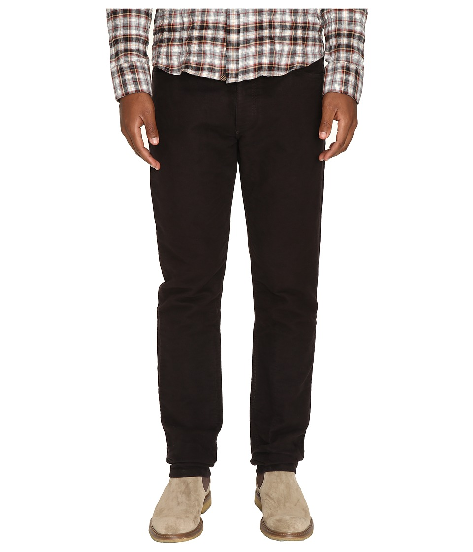 Billy Reid - Moleskin Jeans in Black Walnut (Black Walnut) Men's Jeans