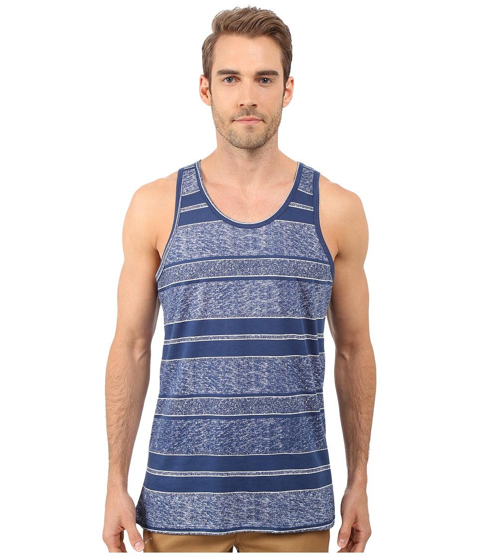 Alternative - Cotton Modal Easy Tank Top (Dark Blue Block Stripe) Men's Sleeveless