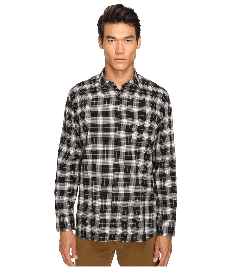 Billy Reid - John T Plaid Button Up (Black/Grey) Men's Long Sleeve Button Up