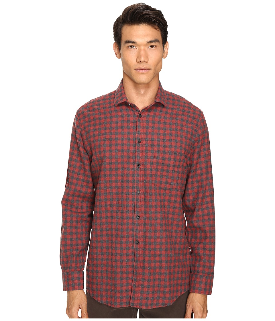 Billy Reid - John T Button Up (Red Check) Men's Long Sleeve Button Up