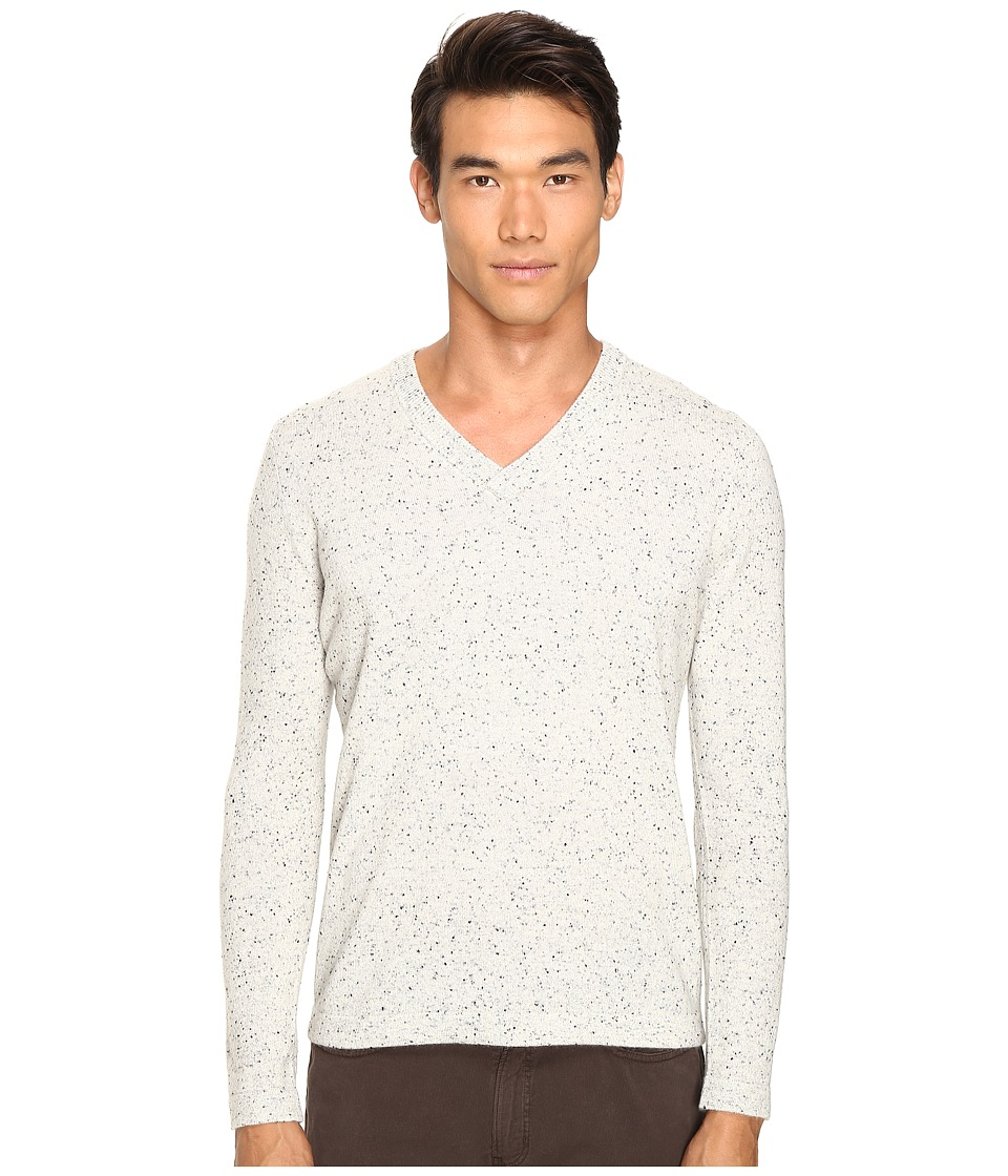 Billy Reid Cashmere V-Neck (Light Grey) Men's Sweater