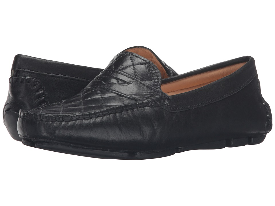 Massimo Matteo - Nappa Penny Driver (Black) Women's Slip on Shoes