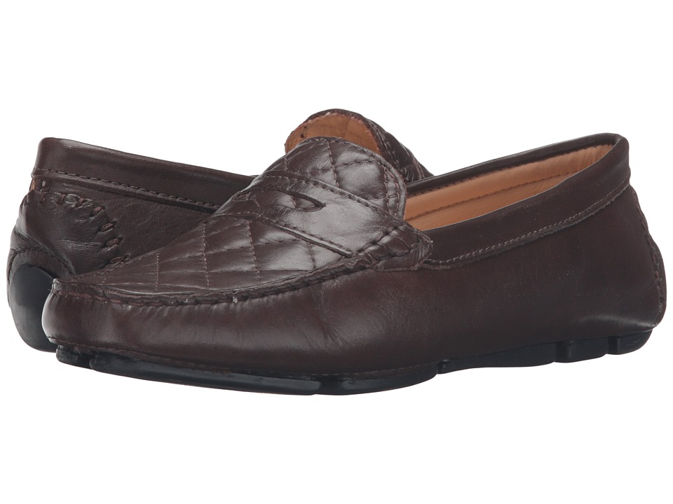 Massimo Matteo - Nappa Penny Driver (Brown) Women's Slip on Shoes