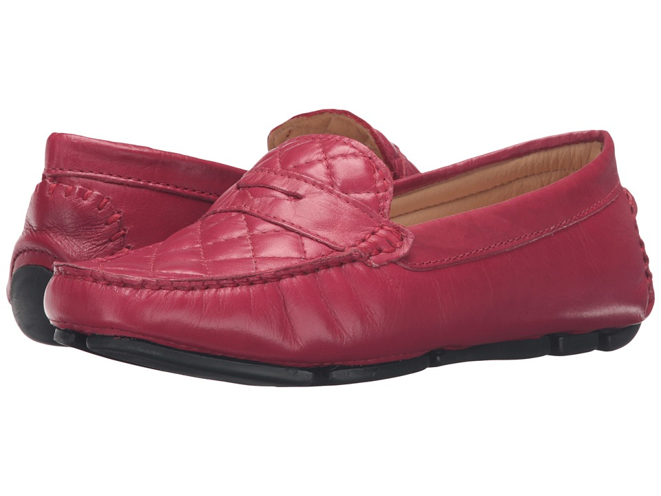 Massimo Matteo - Nappa Penny Driver (Red) Women's Slip on Shoes