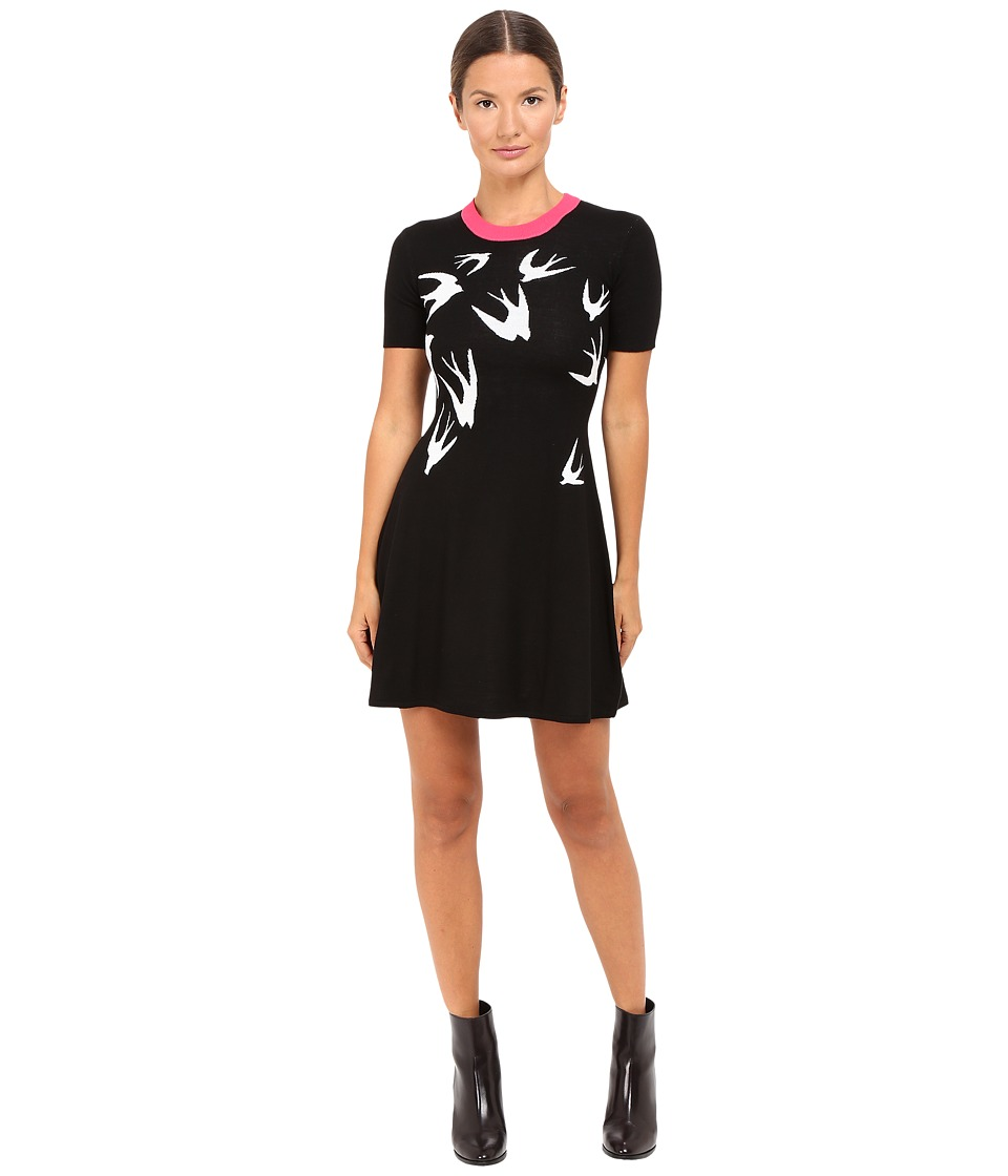 McQ - Swallow Jacquard Skater (Black/White) Women's Dress