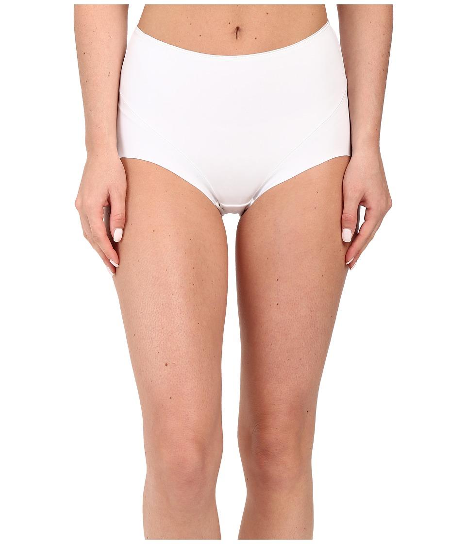 Jockey - Slimmers Front Panel Brief (White) Women's Underwear