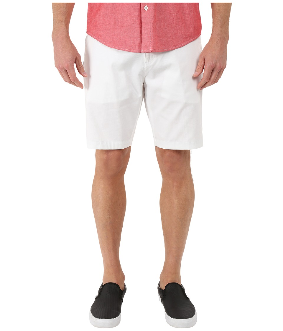 Calvin Klein - 9 Bedford Cord Shorts (White) Men's Clothing