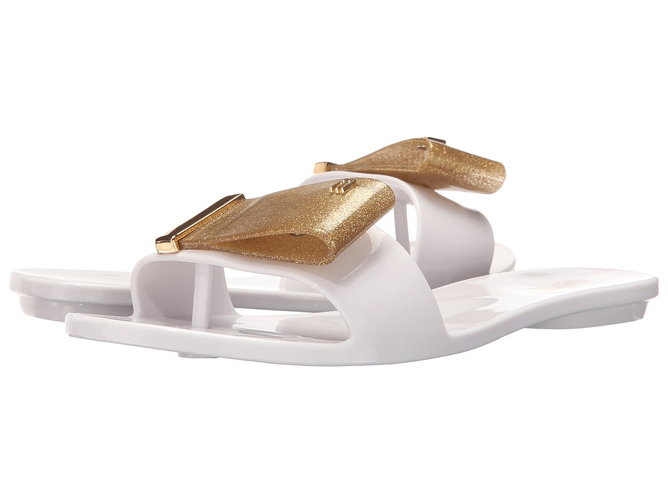 Melissa Shoes - Melissa Lovely II (White/Gold) Women's Shoes