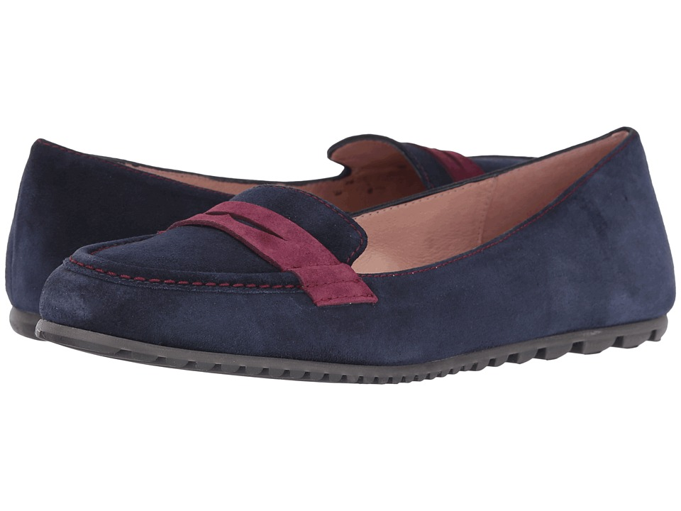 French Sole Touchstone (Navy/Burgundy Suede) Women