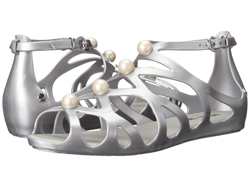 Melissa Shoes - Melisssa Violatta + Karl Lagerfeld (Matte Silver) Women's Shoes