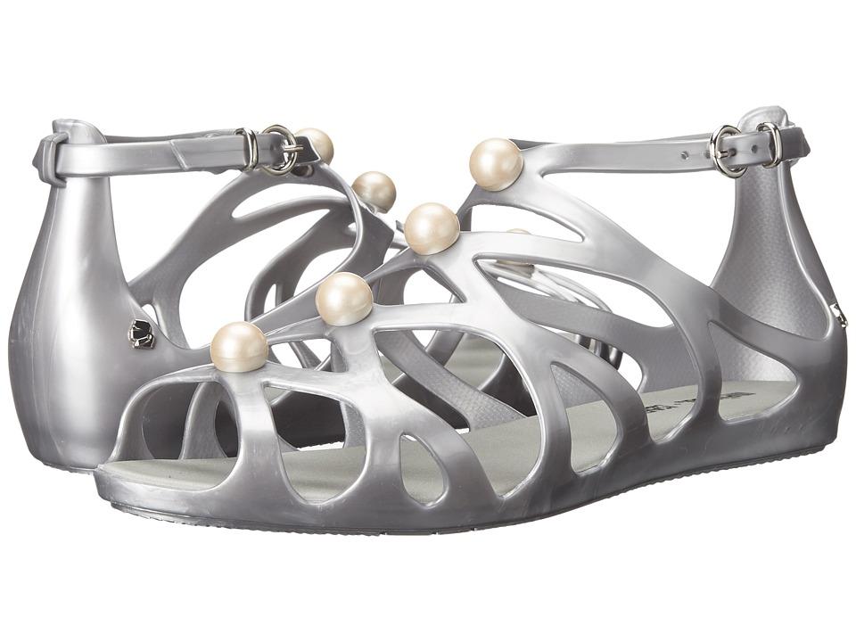 Melissa Shoes - Melisssa Violatta + Karl Lagerfeld (Matte Silver) Women's Shoes