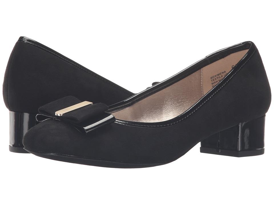 Bandolino - Ximena (Black Suede/Patent) Women's Shoes