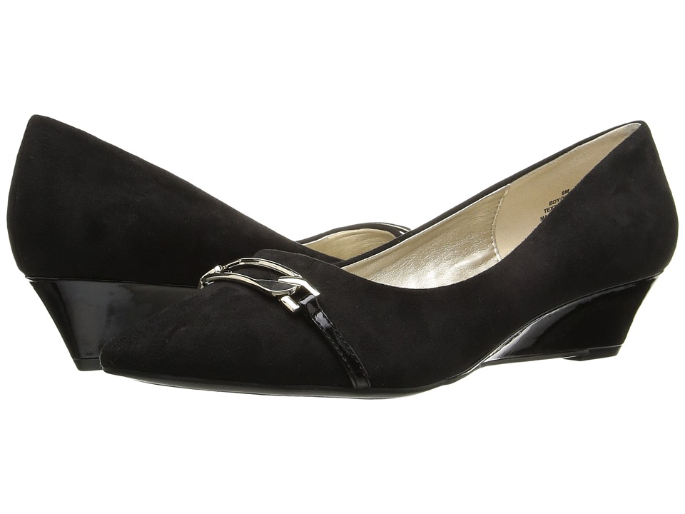 Bandolino - Yorinna (Black Faux Suede) Women's Shoes