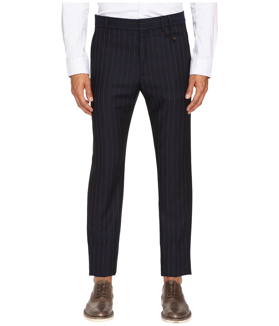 Vivienne Westwood - Pinstripe Wool Classic Trousers (Navy Stripe) Men's Casual Pants