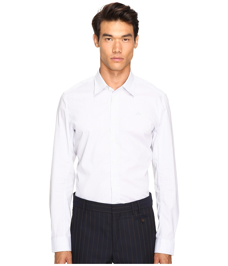 Vivienne Westwood - Stretch Stripe Poplin Shirt (Grey Stripe) Men's Clothing