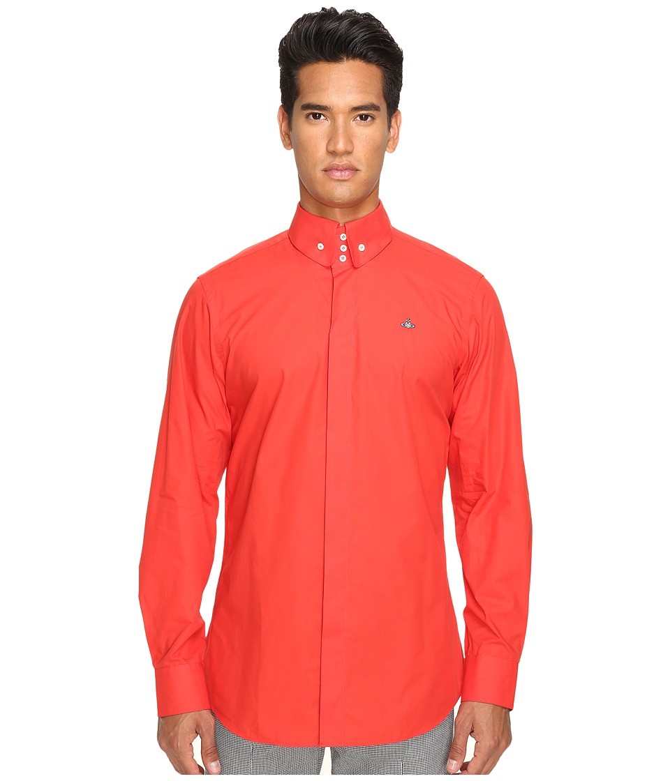 Vivienne Westwood - Poplin Krall Shirt (Red) Men's Clothing