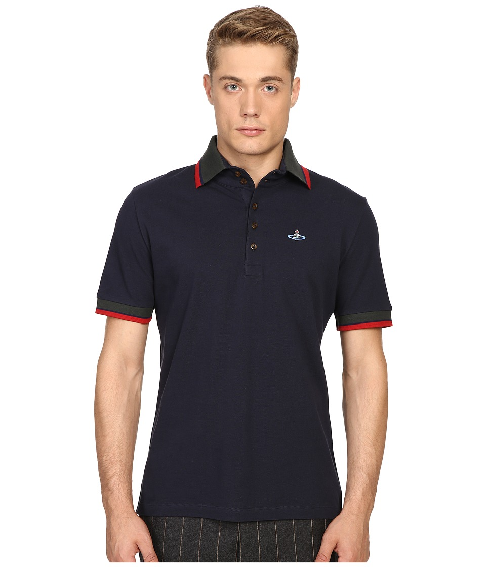 Vivienne Westwood - Classic Pique Krall Polo (Navy) Men's Clothing