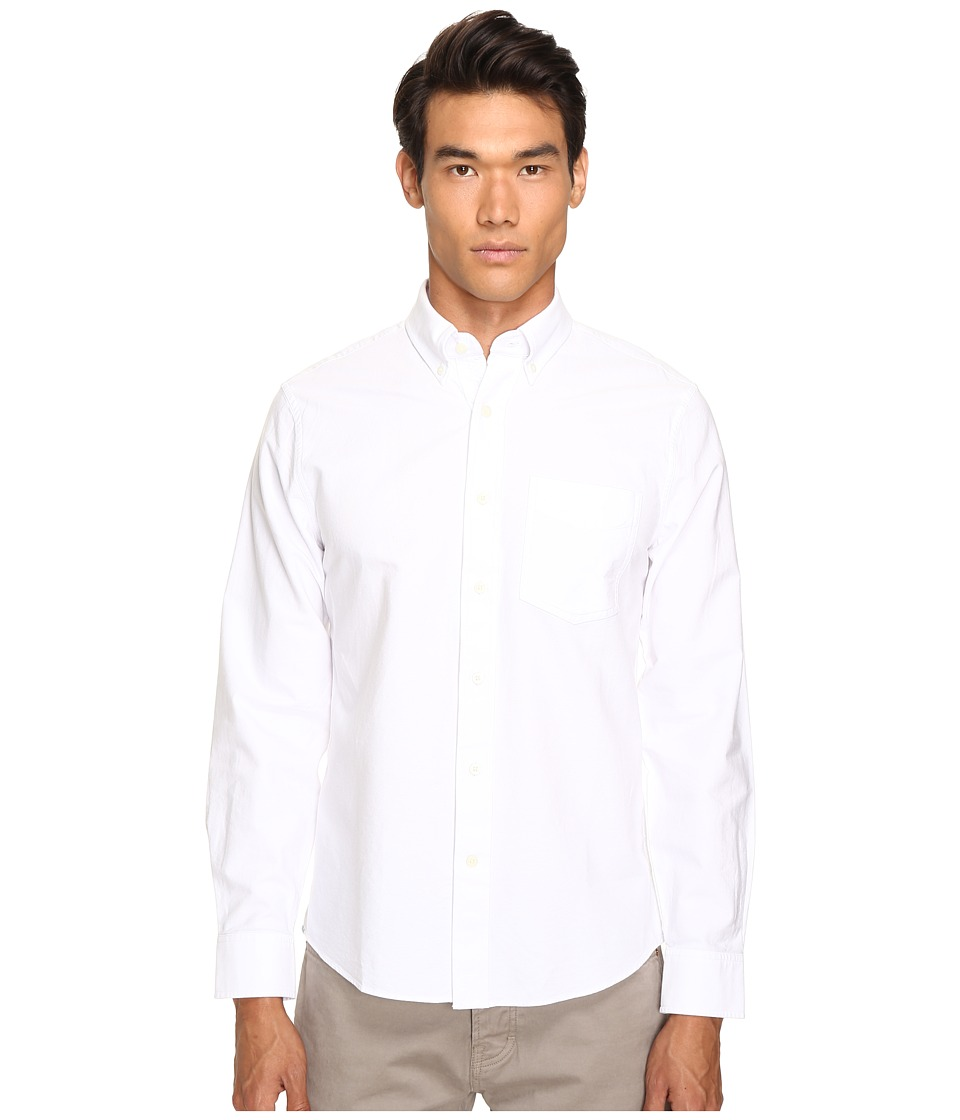 Jack Spade - Sheppard Trapunto Solid Oxford (White) Men's Clothing
