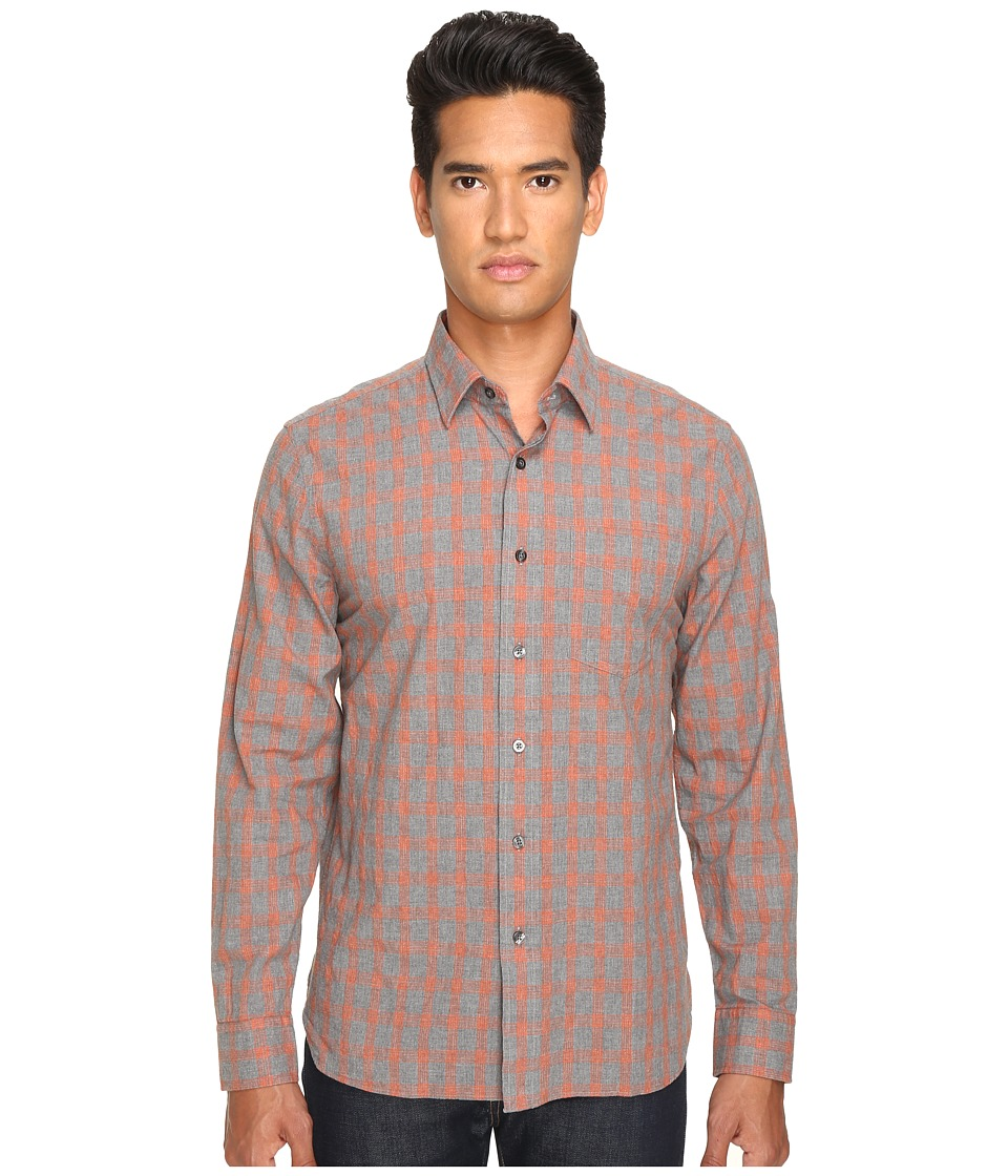 Jack Spade - Grant Heather Check Point Collar (Orange) Men's Clothing