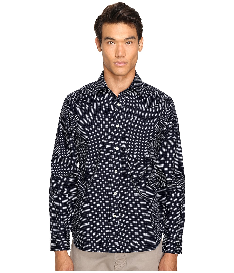 Jack Spade - Grant Plus Print Point Collar (Navy) Men's Clothing
