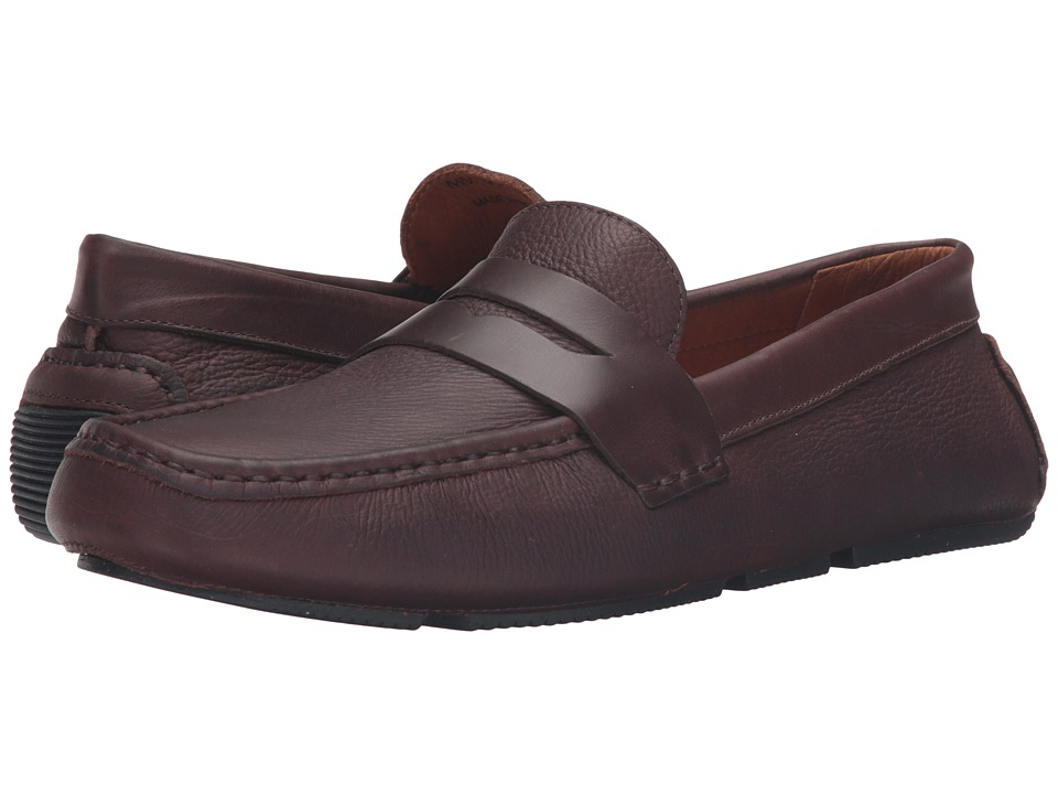 Massimo Matteo - Pitstop Penny Driver (Brown) Men's Slip on Shoes