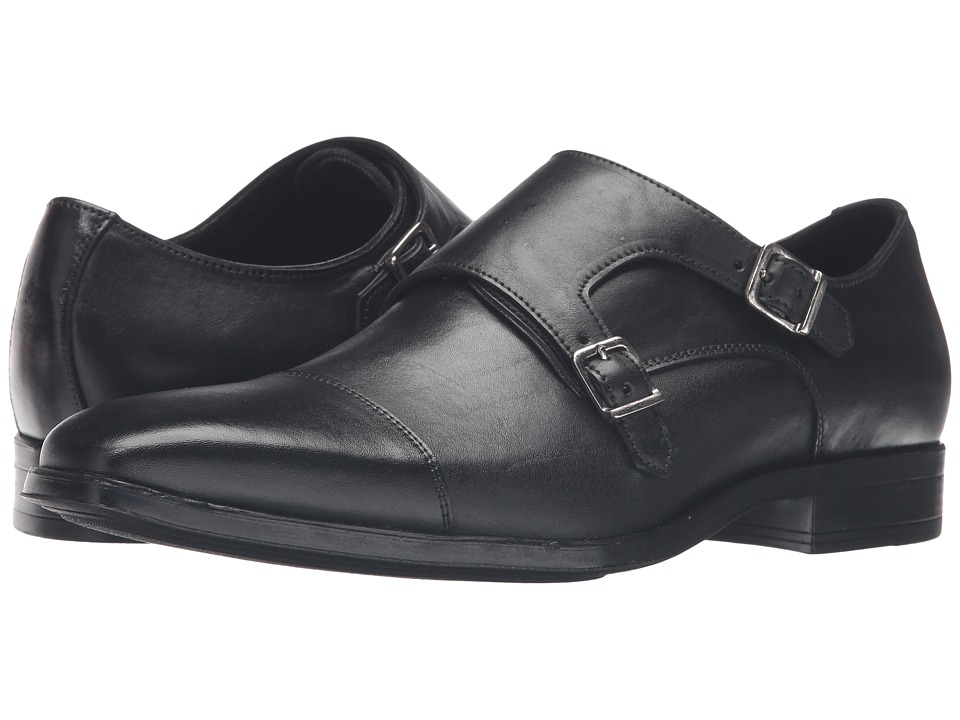 Massimo Matteo - Double Monk Classic (Black) Men's Monkstrap Shoes