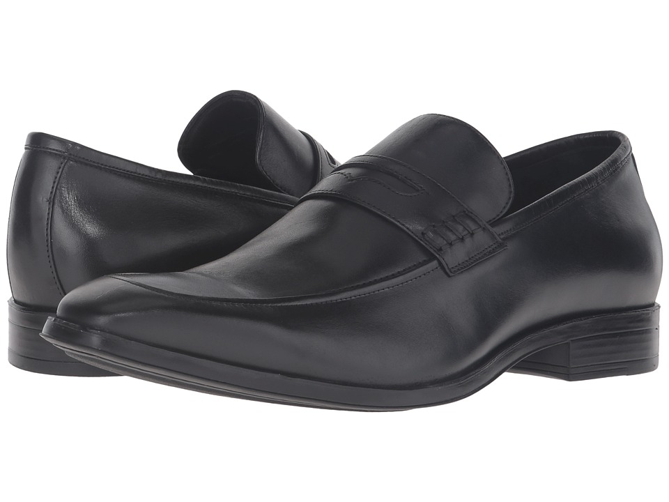 Massimo Matteo - Penny Loafer Classic (Black) Men's Slip on Shoes