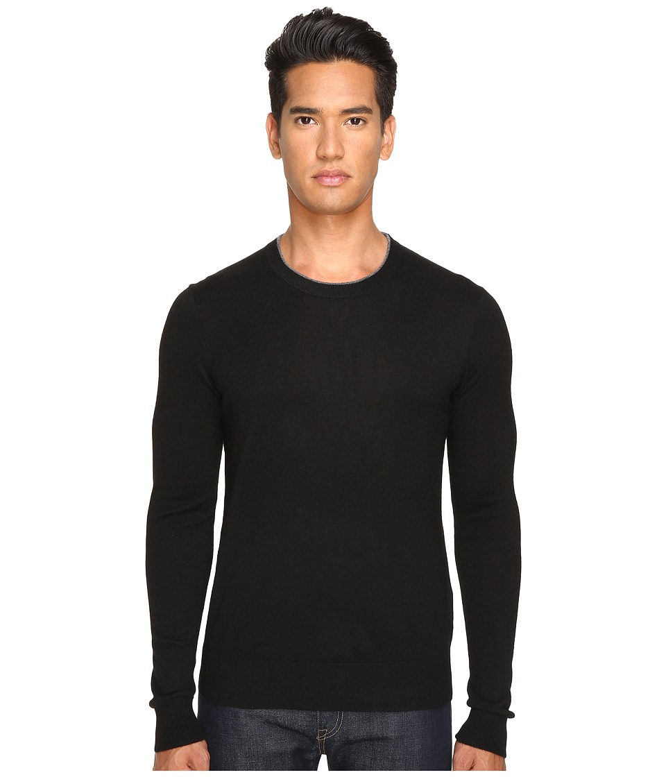Jack Spade - Jersey Stitch Crew Neck Sweater (Black) Men's Sweater