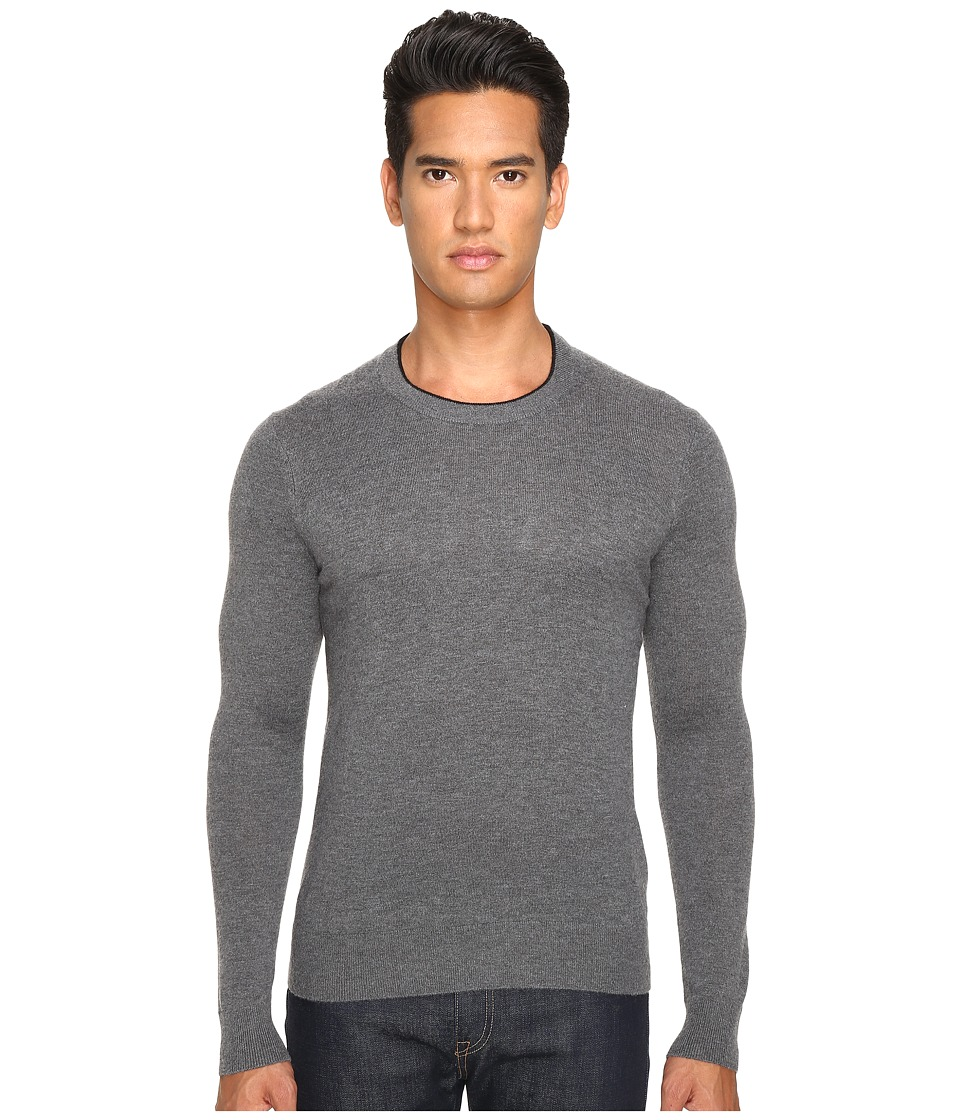 Jack Spade - Jersey Stitch Crew Neck Sweater (Grey) Men's Sweater