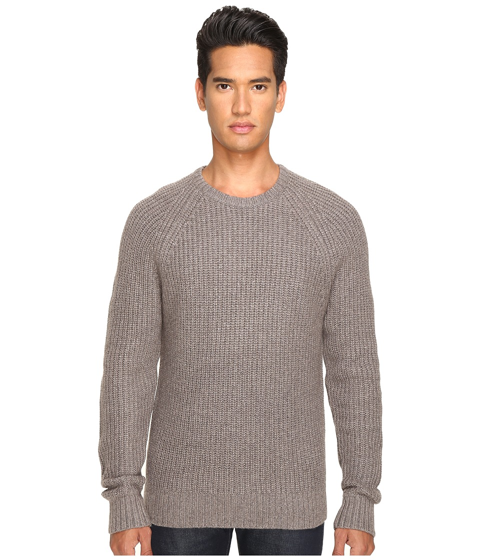 Jack Spade Shaker Stitch Ribbed Crew Neck Sweater (Mink) Men