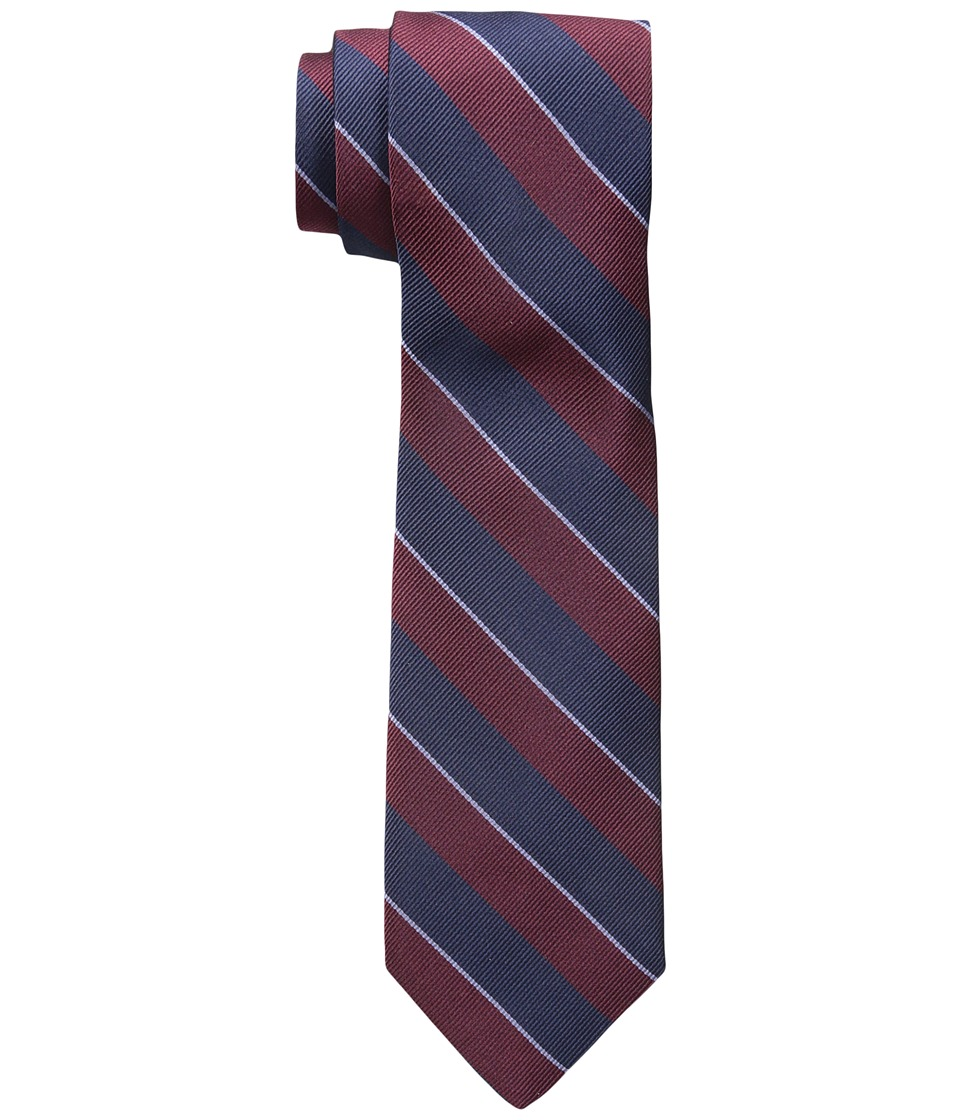 Jack Spade - Large Bar Stripe Tie (Red) Ties
