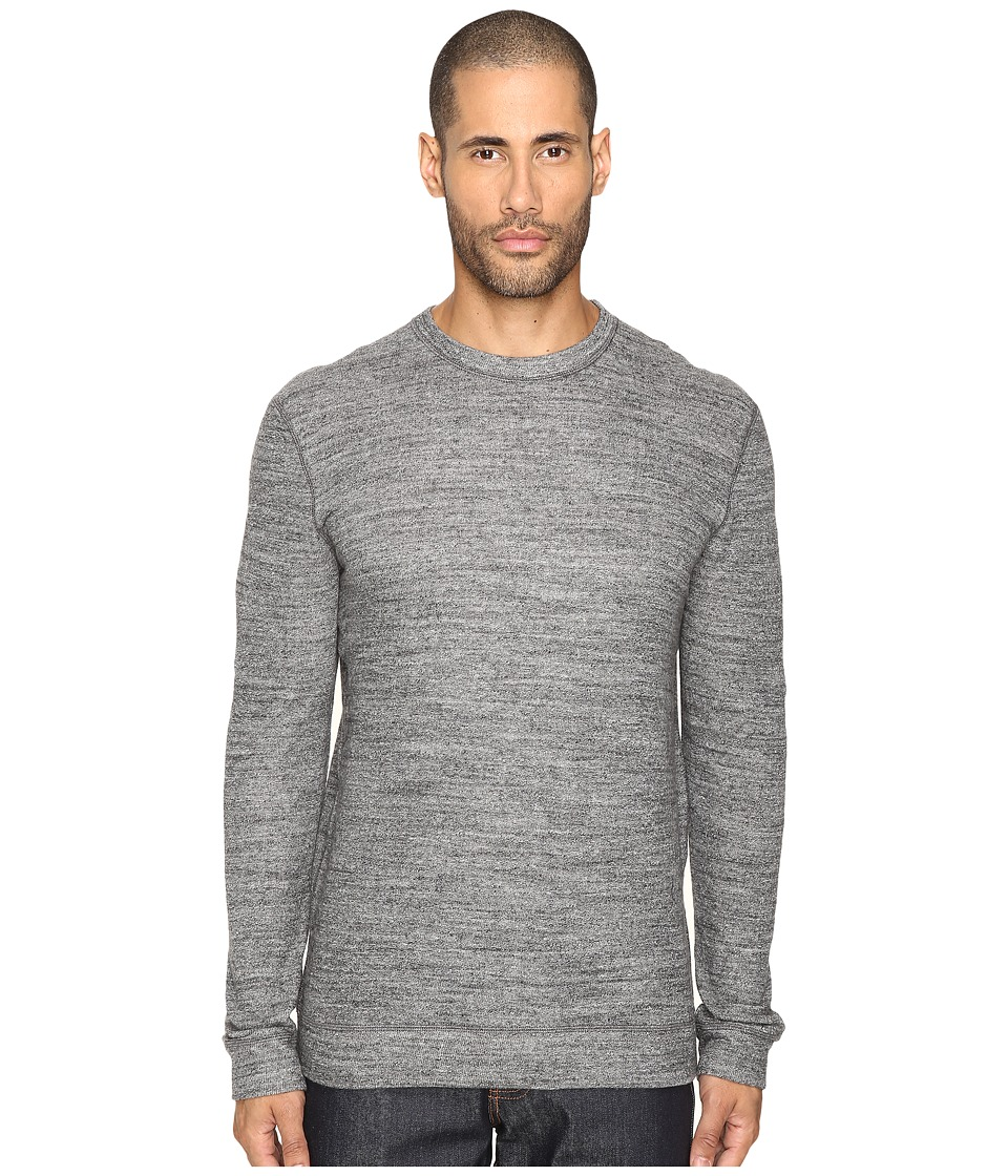 Naked & Famous - Vintage Doubleface Sweater (Charcoal) Men's Sweater