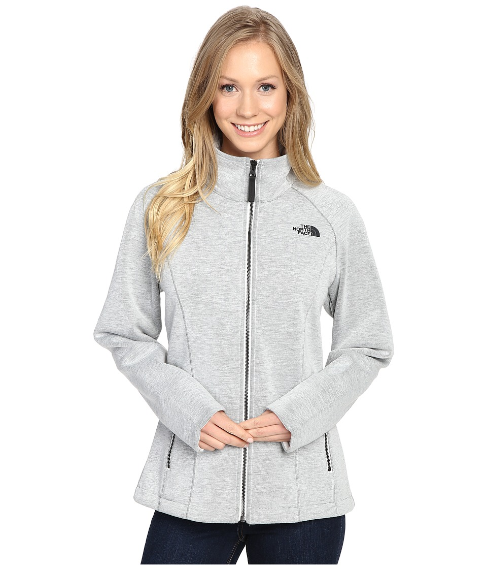 The North Face - Far Northern Full Zip (Vaporous Grey Heather) Women's Clothing