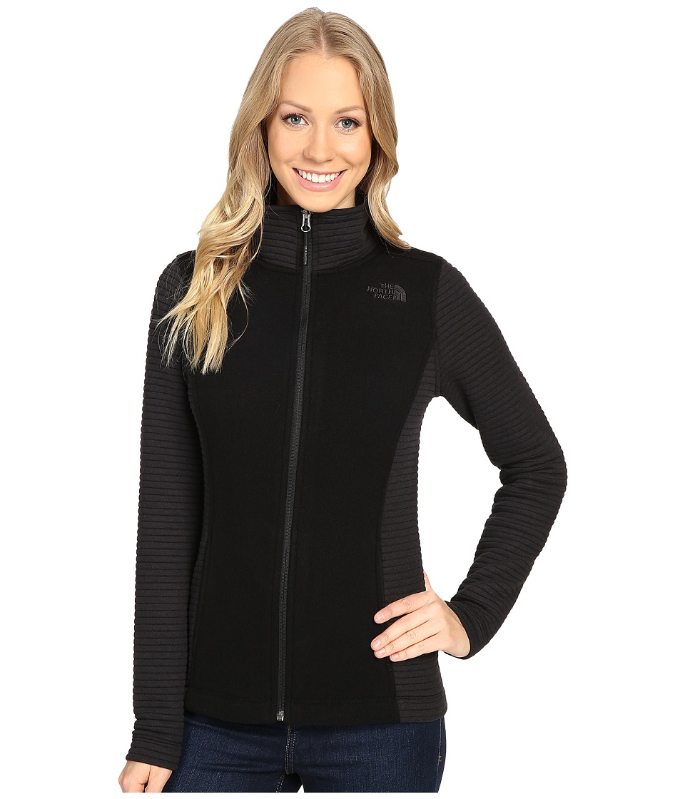 The North Face - Indi Full Zip Jacket (TNF Black Heather/TNF Black) Women's Coat