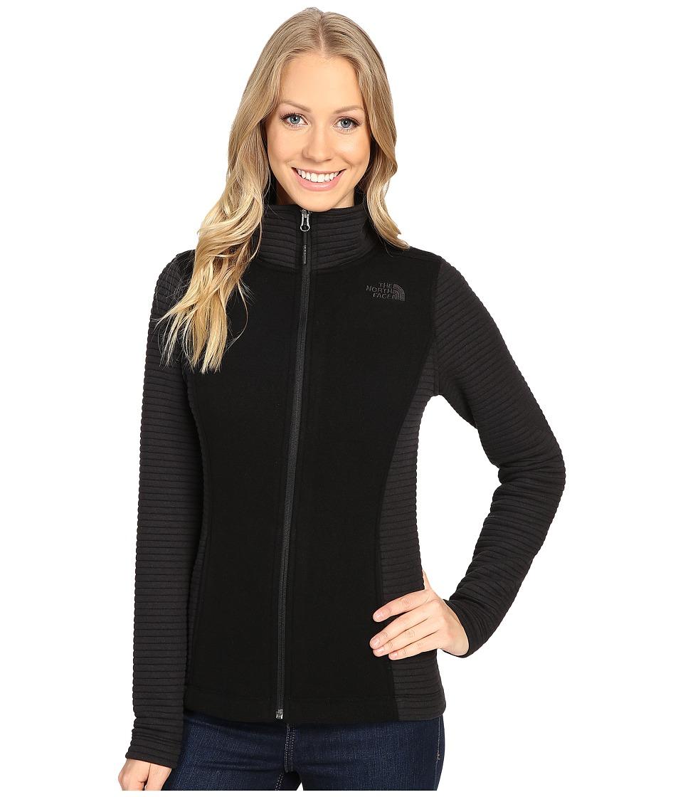 The North Face - Indi Full Zip Jacket (TNF Black Heather/TNF Black (Prior Season)) Women's Coat